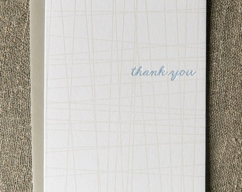 Letterpress Greeting Card - Thank You