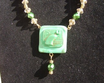Green Cat necklace