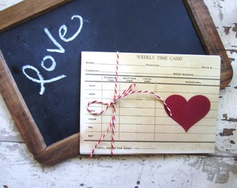 Vintage Love Notes, Wedding Decor, Post Cards or Tag Set, Christmas Cards