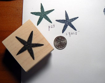 Sea star rubber stamp  Wood Mounted P23