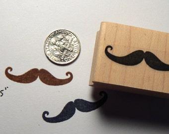 Mustache, moustache, mustache rubber stamp WM P45