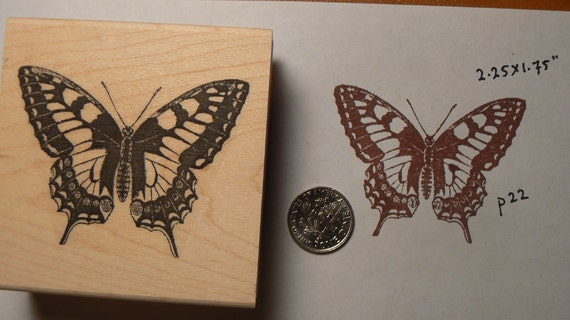 Butterfly rubber stamp WM P22