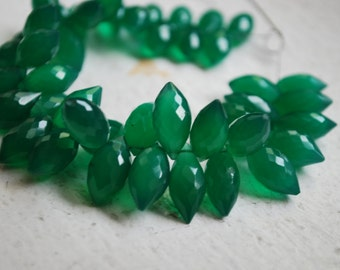 1/2 strand of green onyx dew drops - ON SALE FOR 20.00