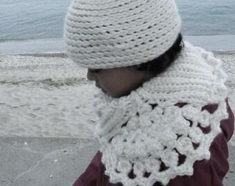 Vanillée côte-de-maille - patron de cache-col au crochet