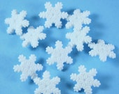 White Winter Snowflakes Novelty Buttons