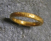 24k Solid Pure .999 Gold Comfort Fit Ring Band Size 6