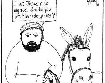 Jesus Rides on a Donkey PRINT
