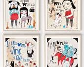 Illustration, Art, Cat Stevens, Fun art , Music lover gift, Cool wall art, Drawing, Cat Stevens Lyrics, Nursery art