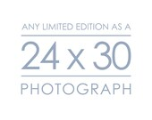 Any Limited Edition Landscape Photograph as a 24x30 inch Print - Custom size great for the living room and bedroom