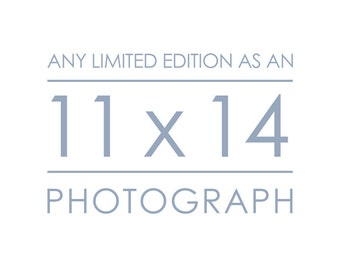 Any Limited Edition Landscape Photograph as an 11x14 inch Print - Custom size great for the office, kitchen, and dining room