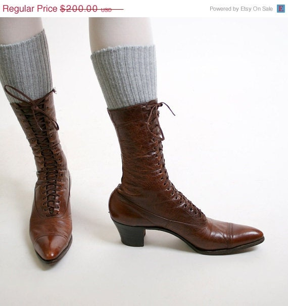 Witch Boots, VIntage Shoes from Zwzzy on Etsy size 6.5