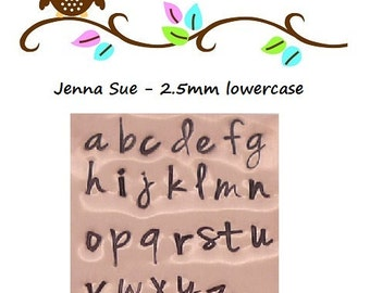 JENNA SUE - lowercase letters - includes how to stamp metal tutorial