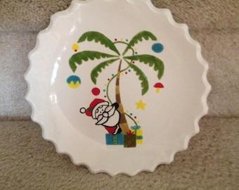 Christmas Palm Plate