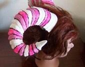Pink and White Candy Ram Goddess Warrior Demon Horns Christmas Festival Horns