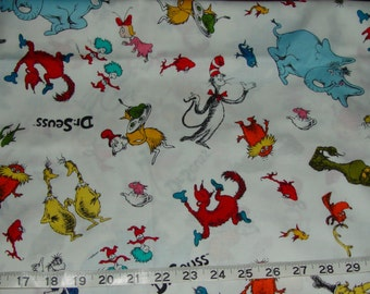 Dr Seuss Characters Sam I Am Cat in the Hat Thing 1 2 Horton - almost 1 1/2 yards