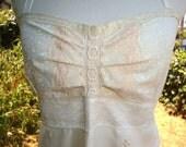 Wedding Gown Beaded Dress Bridesmaid Retro Handmade Creation Vintage Lace Beading Champagne Bridal Embroidered OOAK Designer elyse oRiGiNaLs
