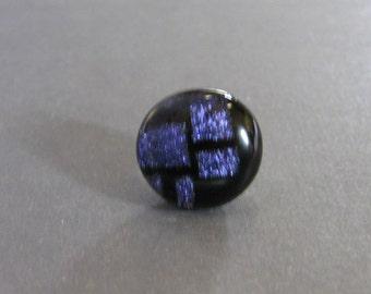 Blue Lapel Pin Tie Tack, Purple Tie Pin, Necktie Pin, Mens Fused Glass Jewelry - Chale - 25 -3