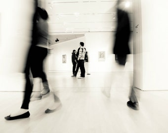 Art photography black and white photograph modern home decor motion blur people figure art print - Museum
