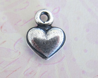 NEW Small Silver Heart Charm 3285