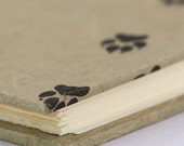 Guest Book Lined or Blank 9x7 Paw Prints - Perfect for Dog Lovers, Sketchbook, Cabin, Memorial, Funeral