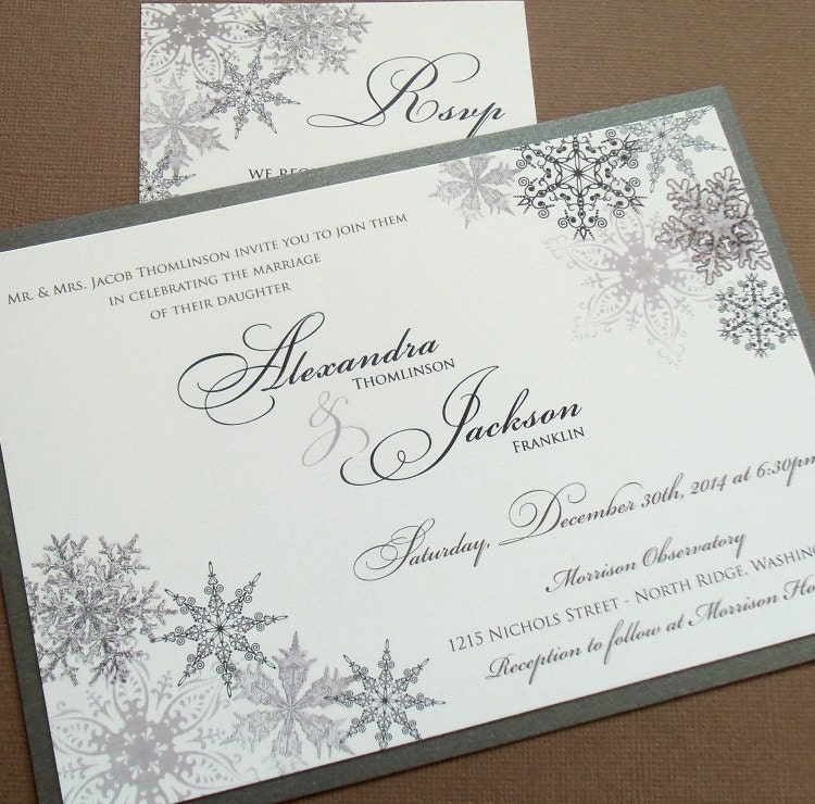 snowflake wedding invitation - 28 images - snowflake wedding ...