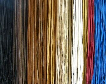 20 Pieces USA DEERHIDE 6 Feet - 1/4 Inch Leather Cord