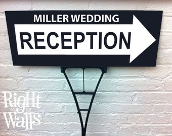 Wedding Reception Arrow Personalized Directional Yard Sign
