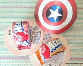 INSTANT DOWNLOAD - Captain America Shield Avengers Valentine for Airheads - Printable Set