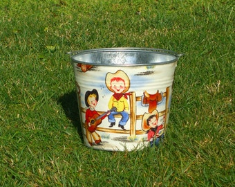 Toddler Perfect Pail Galvanized Metal Lil Cowpokes