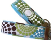 Wristlet Key Fobs - Spa Round About - Fabric Key Chains