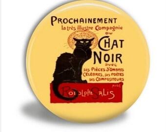 Chat Noir Pocket Mirror, Black Cat Pocket Mirror