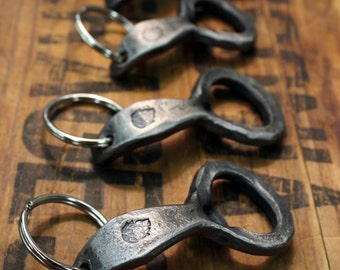 Hops Keychain Beer Bottle Openers - Hand-forged by a Blacksmith
