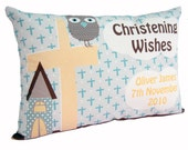 Boys Christening Decorative Cushion