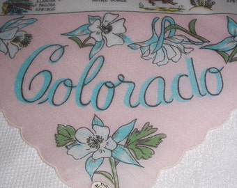 Vintage Colorado Hanky - Handkerchief Hankie