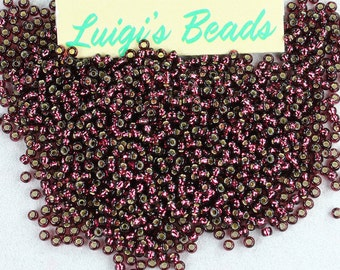 11/0 Round Toho Japanese Glass Seed Beads #26C-Silver-Lined Amethyst 15g