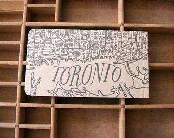 letterpress Toronto notepad