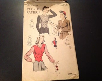 Vintage Vogue #9658 Pattern for Misses Size 14 Jacket