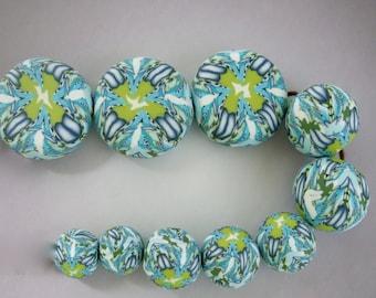 Handmade Art Clay Bead Set, polymer clay, DIY jewelry