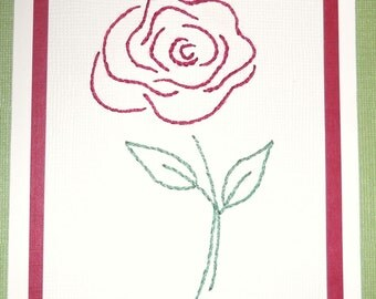 Red Rose Note Cards - Pack of Five