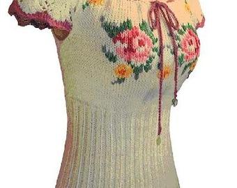 Frida Blouse/Tee Knitting Pattern