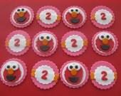 Elmo Inspired Sesame Street Fondant Cupcake Toppers