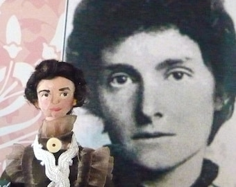 E. Nesbit Doll Art Miniature Children's Author