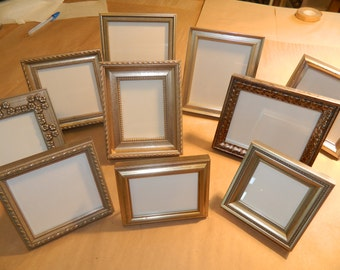 10 Small SILVER Frames for Wedding Party Favors Bridesmaids Gifts Bridal Shower