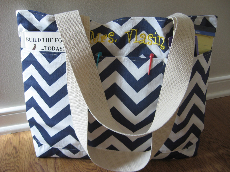 Teacher Bag Teacher Tote REVERSIBLE Tote Monogrammed