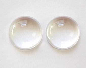 Acrylic Magnifying Cabochons 20mm Round cab833B