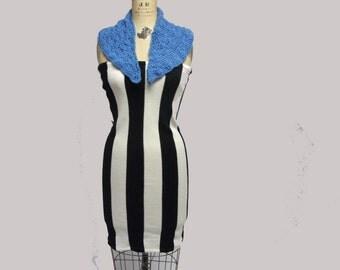Sky Blue Vintage Crochet Collar
