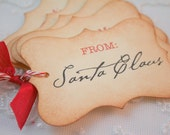 From Santa Claus Christmas Gift Tags Holiday Tags Favor Tags Set of 6