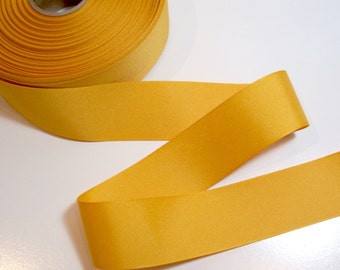 Gold Ribbon, Mustard Yellow Grosgrain Ribbon 1 1/2 inches wide x 50 yards, Offray Gold Ribbon
