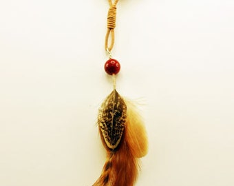 Pheasant and Hen Feathers Necklace