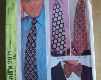 McCalls 2971  40 minute mens ties Sewing Pattern